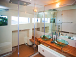 Double cabin bathroom on the luxury charter mega yacht in Croatia based in Split