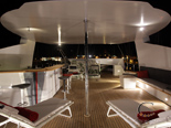 Fly bridge on the luxury charter mega yacht in Croatia based in Split