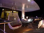 Deck on the luxury charter mega yacht in Croatia based in Split
