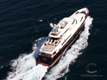 Aerial shot of the Navetta 30 Custom Line a luxury yacht charter in Croatia