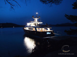 Navetta 30 Custom Line a luxury yacht charter in Croatia by night