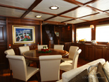 Master salon on Navetta 30 Custom Line a luxury yacht for charter in Croatia with homeport in Zadar