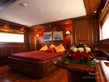 Master cabin on Navetta 30 Custom Line a luxury charter yacht in Croatia