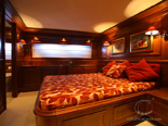 VIP cabin on Navetta 30 Custom Line a luxury charter yacht in Croatia