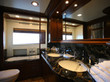 Master cabin bathroom on Navetta 30 Custom Line a luxury charter yacht in Croatia
