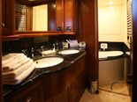 VIP cabin bathroom on Navetta 30 Custom Line a luxury charter yacht in Croatia