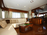 Salon on deck two on Navetta 30 Custom Line a luxury charter yacht in Croatia