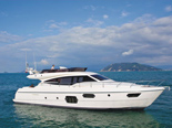 Ferretti 620 a luxury yacht for rental in Dubrovnik and Croatia