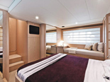 Master cabin on Ferretti 620 a luxury yacht for charter in Dubrovnik and Croatia