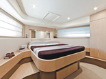 VIP cabin on Ferretti 620 a luxury yacht for charter in Dubrovnik and Croatia