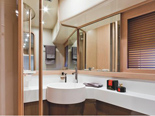 Twin cabin bathroom on Ferretti 620 a luxury yacht for charter in Dubrovnik and Croatia